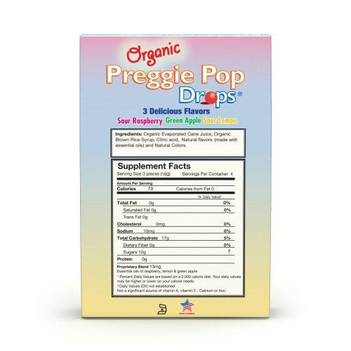 Organic Preggie Pop Drops Box Back