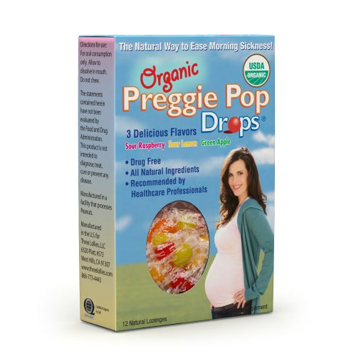 Organic Preggie Pop Drops Box Side