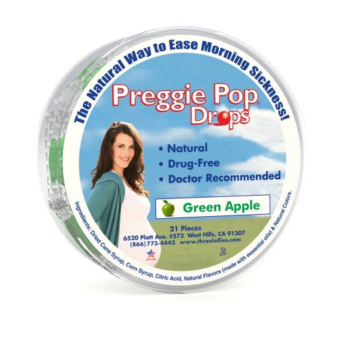 Preggie Pop Drops Green Apple 21 Piece