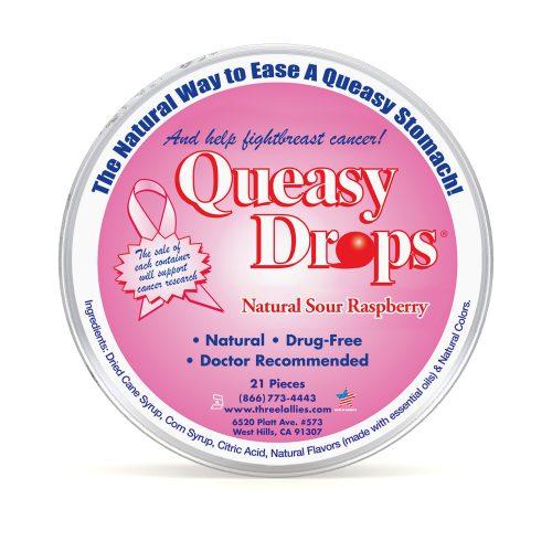Queasy Drops Pink for Nausea Relief