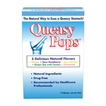 Queasy Pops Ginger, Raspberry, Lemon, Green Tea, Cinnamon