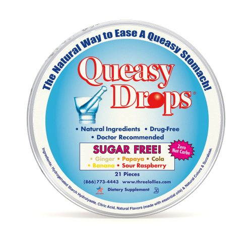 Queasy Drops Sugar Free for Nausea Relief