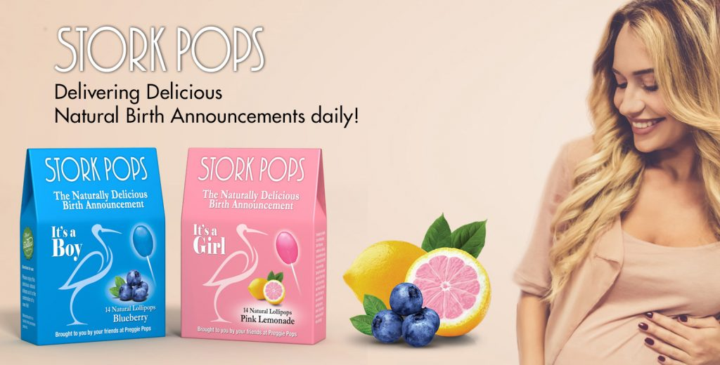 Stork Pops Birth Announcements