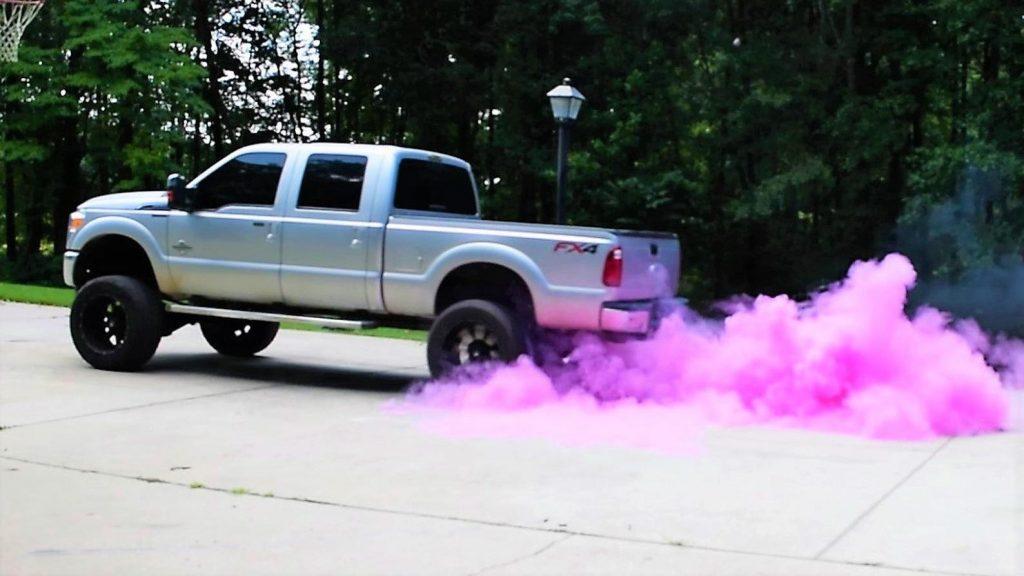 Pink Truck Smoke