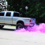 Pink Smoke Truck