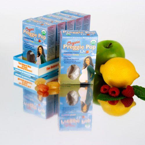 Organic Preggie Drop 12pc Boxes in Tray